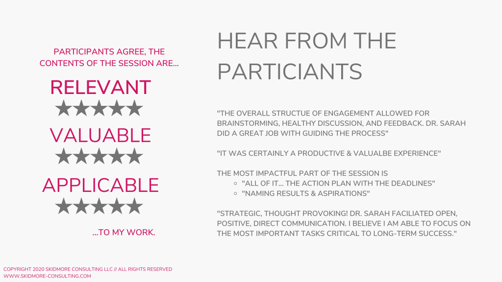 Case Study - Participant Feedback Skidmore Consulting